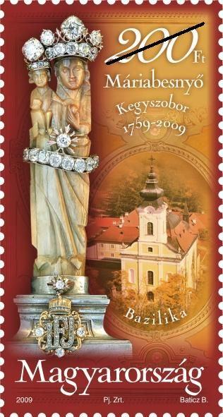 250th anniversary of the discovery  of the Máriabesnyő devotional statue
