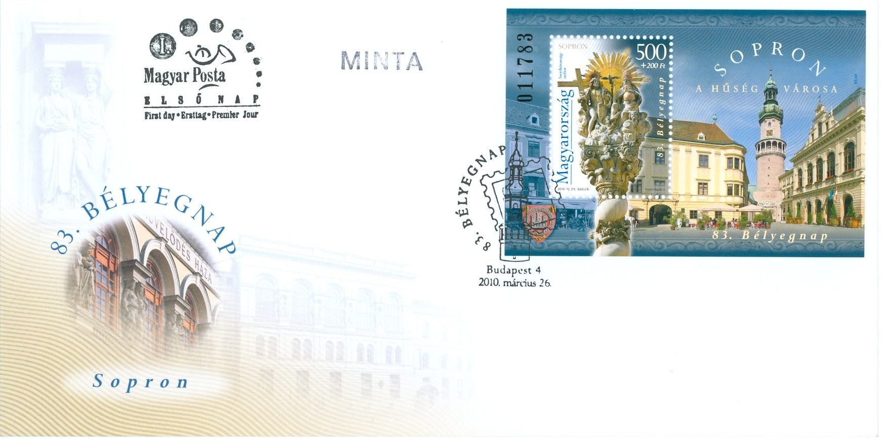 83rd day of stamps - Sopron block