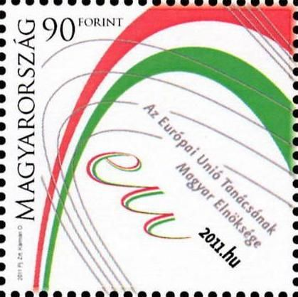 The Hungarian Presidency of the Council of the European Union stamp