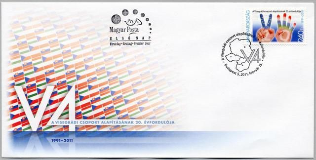 20th anniversary of the formation of the Visegrád Group (Czech, Hungarian, Polish, Slovak joint stamp issue)