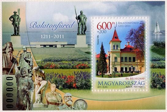 84th Stamp Day: Balatonfüred is 800 years old