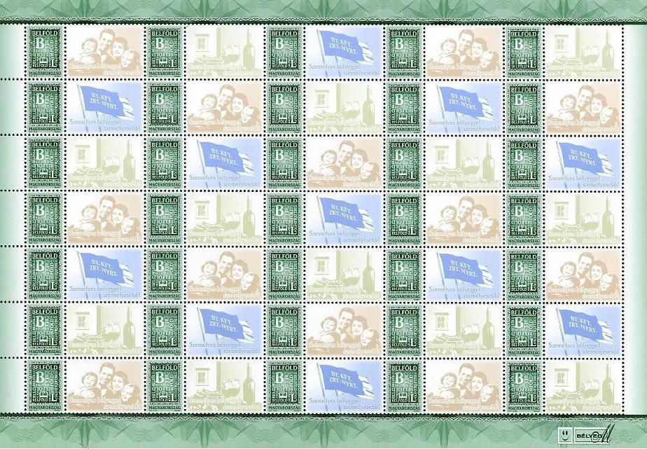 Your Own Message Stamp IV. Domestic 35 sheet