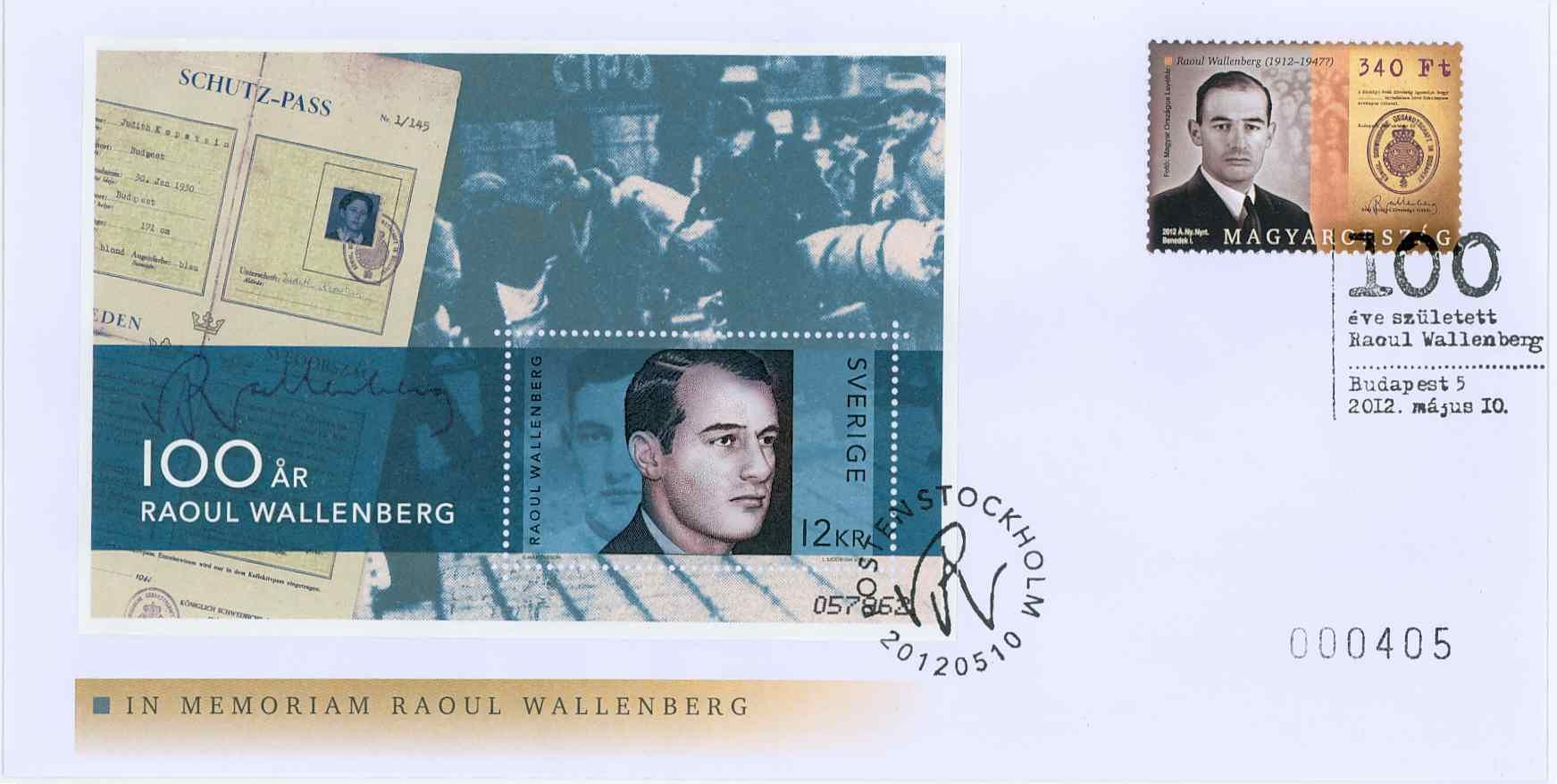 Raoul Wallenberg memorial year (Hungarian - Swedish cover)