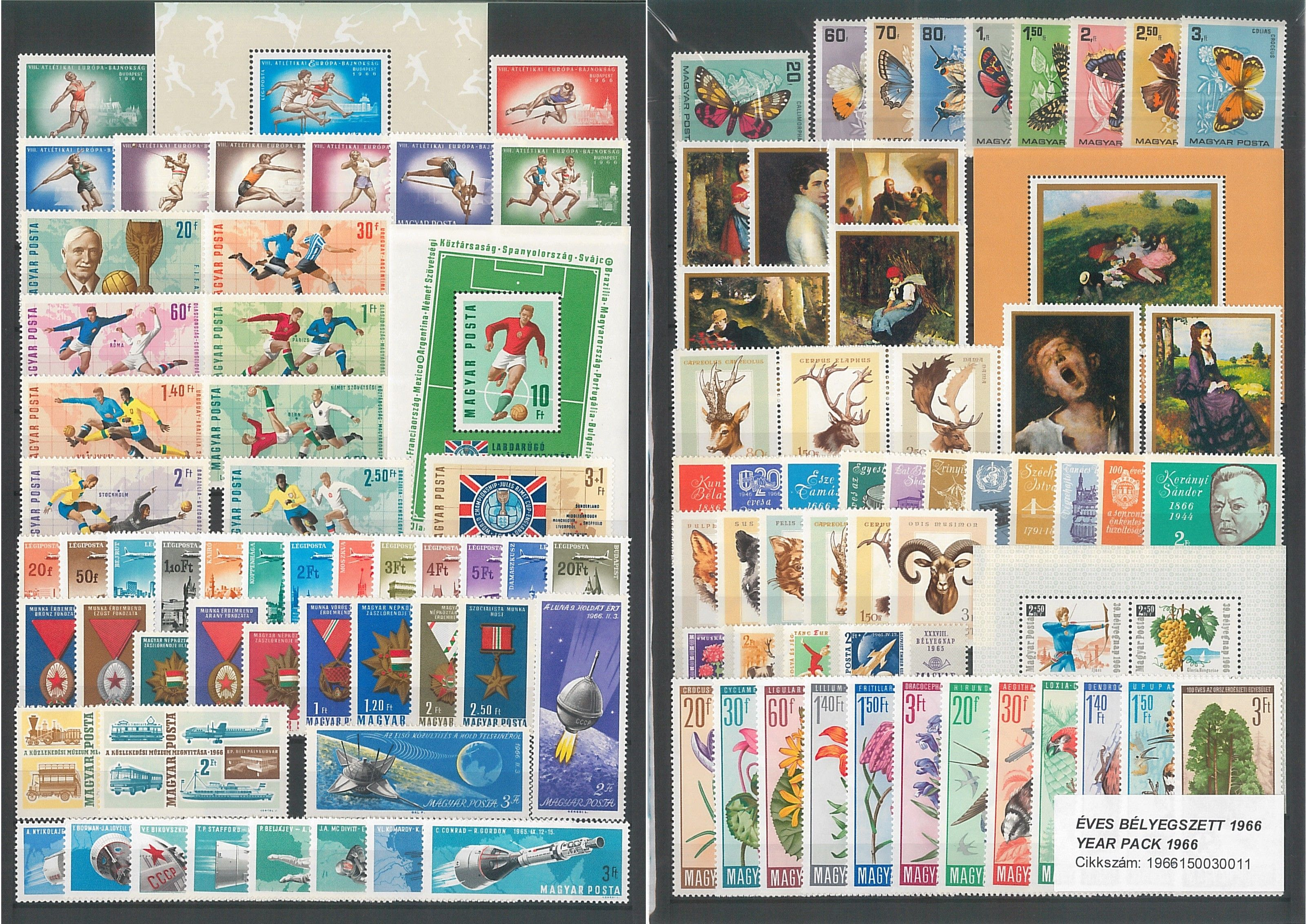 Hungarian Stamps 1966