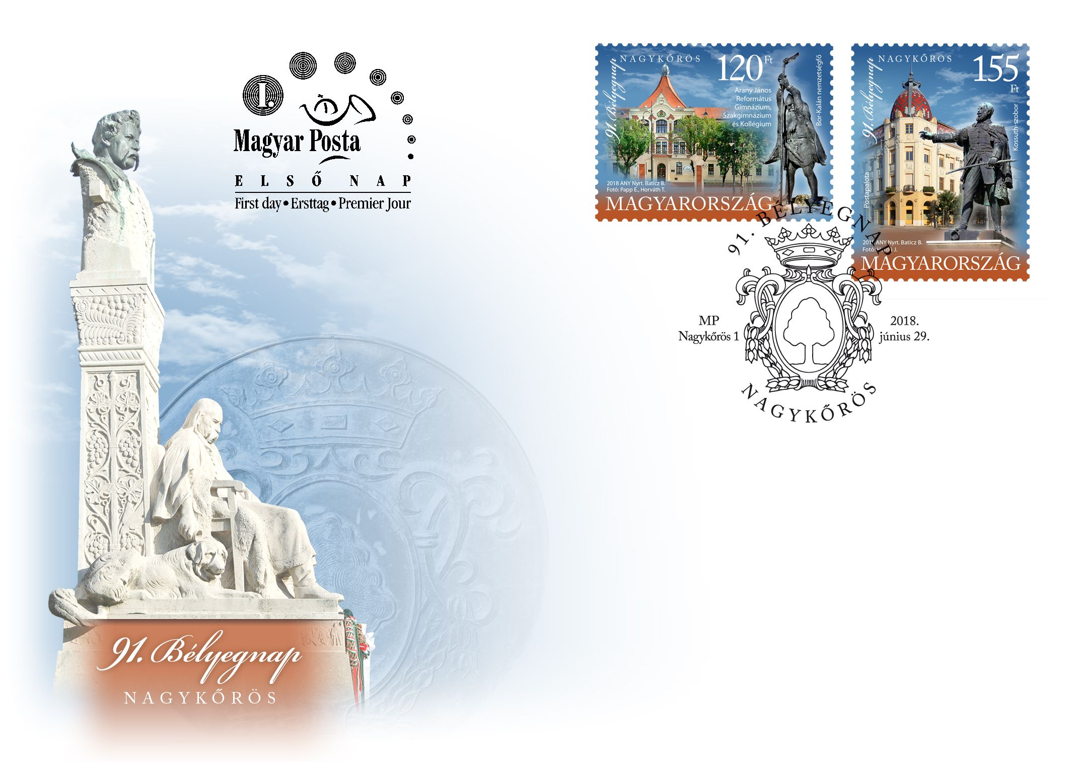 91st Stamp Day Nagykőrös set FDC