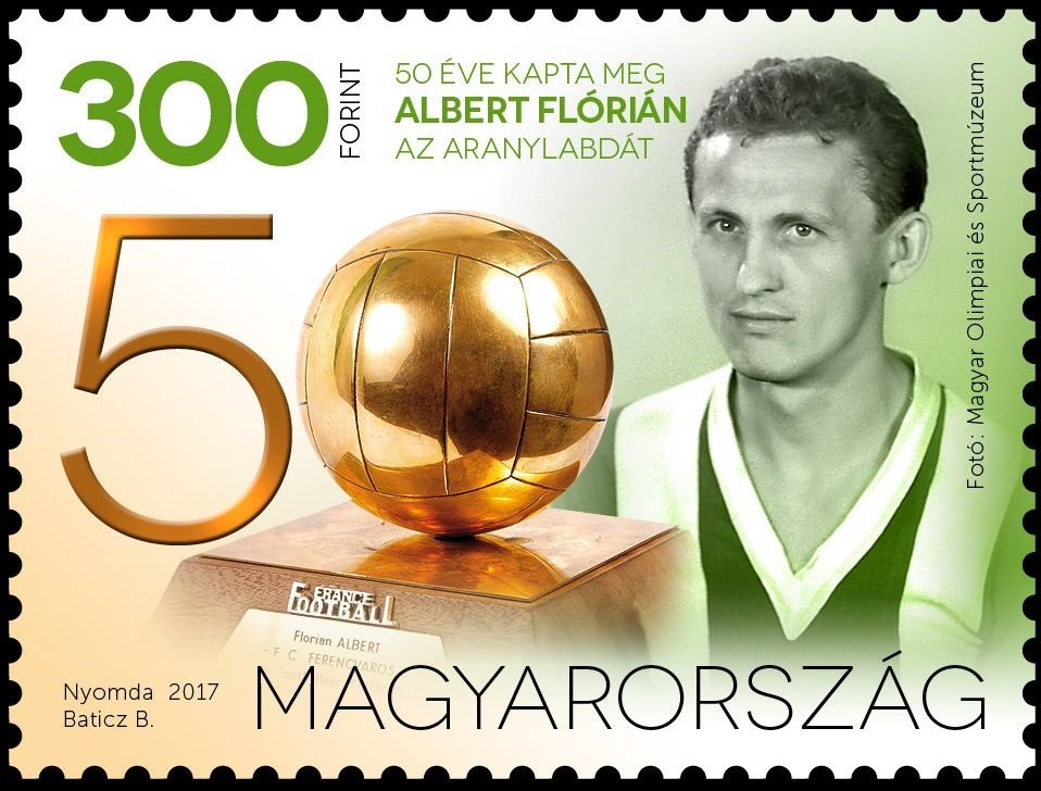 Flórián Albert was granted the Ballon d'Or 50 years ago