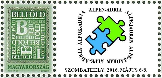 Alp-Adria 2016 international stamp exhibition - stamp