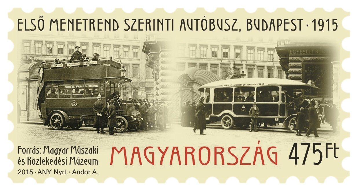 The first Schedeled bus service (Budapest, 1915)