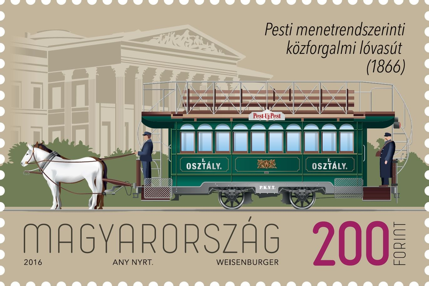 First Scheduled Horse Tramway in Pest Entered Service 150 Years Ago