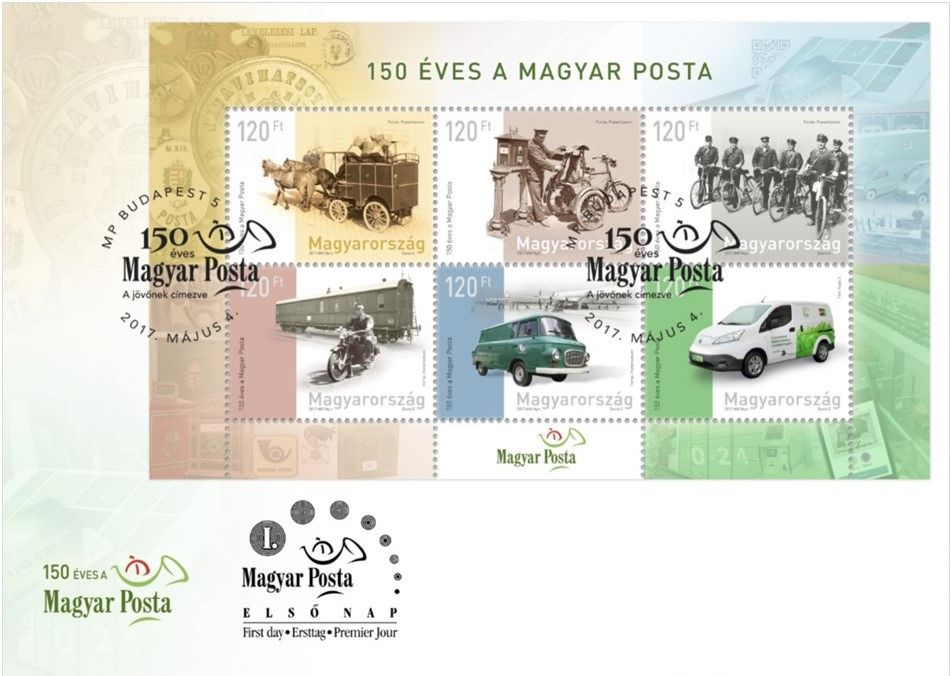 Magyar Posta is 150 years old - FDC