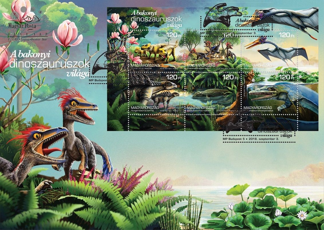 The world of the Bakony dinosaurs FDC