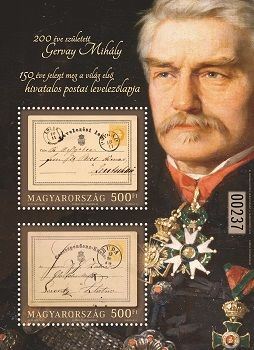Mihály Gervay was born 200 years ago – the world's first official postcard was issued 150 years ago