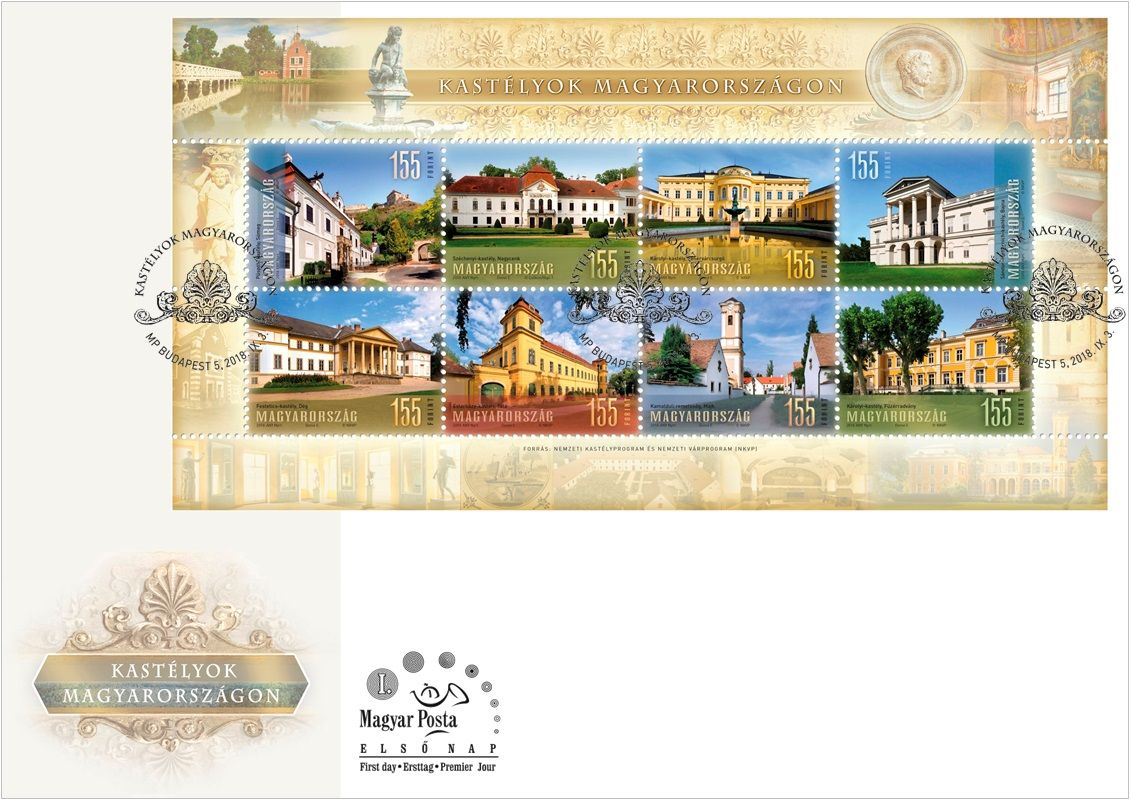 Palaces in Hungary FDC