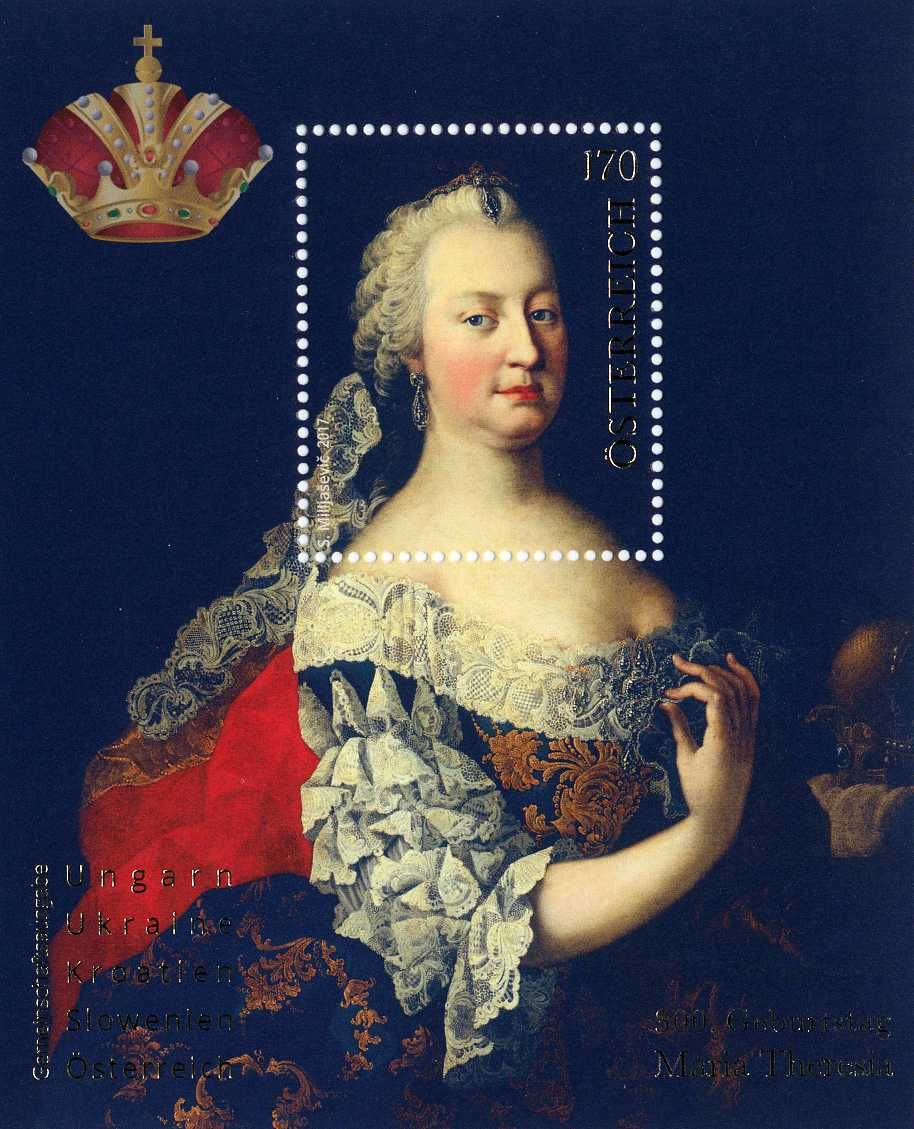 Maria Theresa was born 300 years ago - Austrian stamp