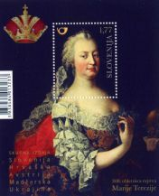 Maria Theresa was born 300 years ago - Slovenian stamp