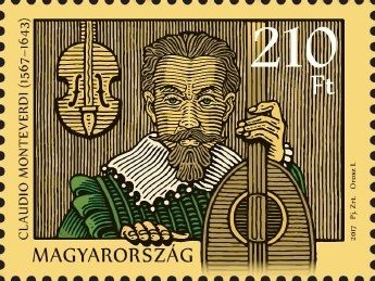 Claudio Monteverdi was born 450 years ago (stamp)