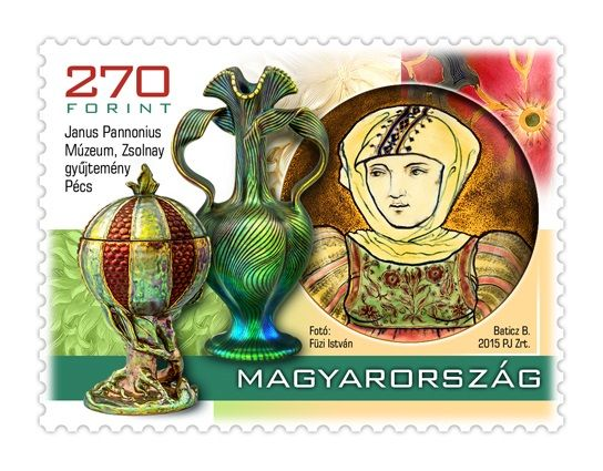 Treasures of hungarian museums III. - Zsolnay stamp