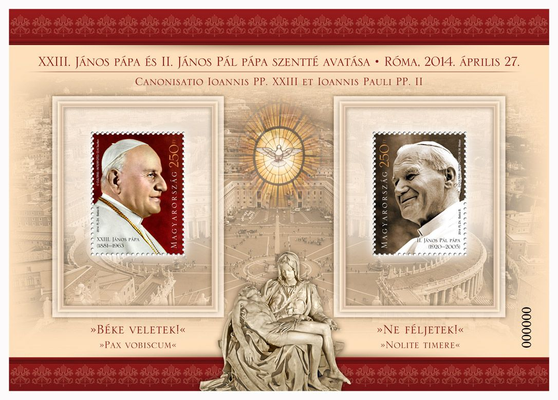 Canonisation of Pope John XXIII and Pope John Paul II.