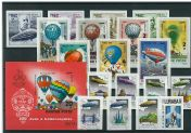 Imperforated thematic sets - Aviation III