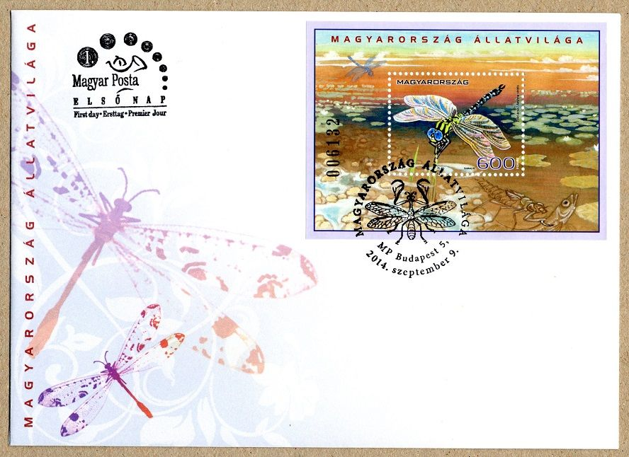 The fauna of Hungary - insects block FDC