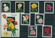 Imperforated thematic sets - Roses