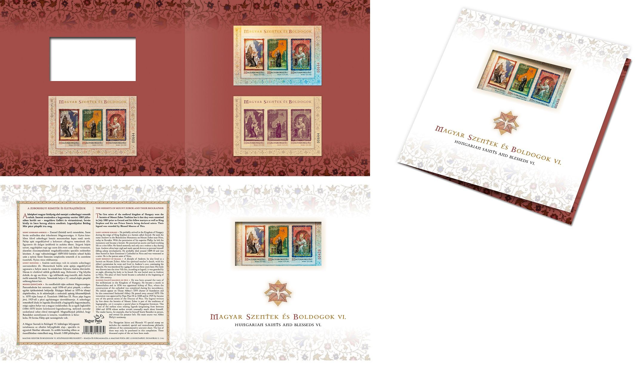 Hungarian saints and blesseds VI stamp set