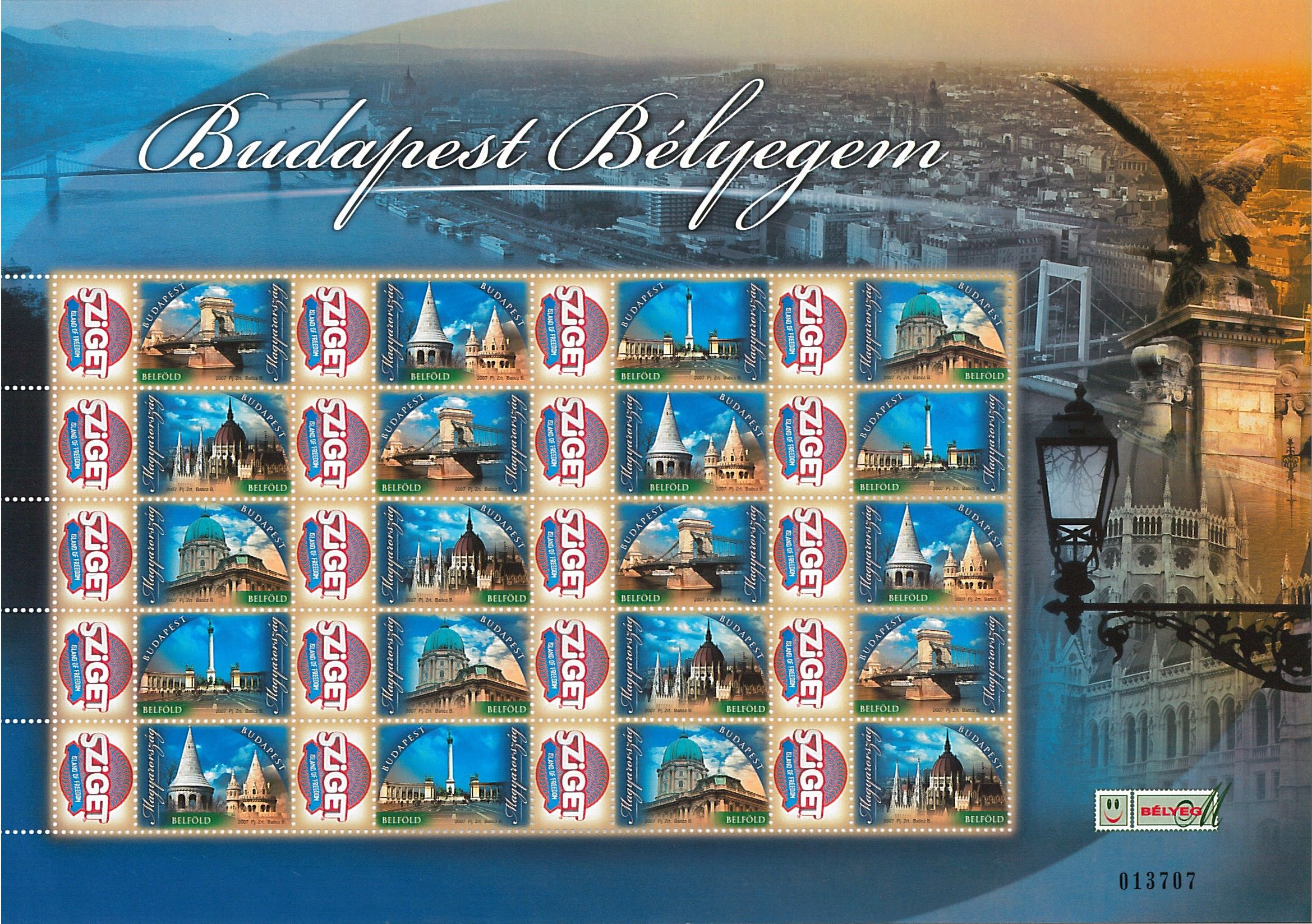 Your Own Budapest: Sziget sheet (20 stamps)