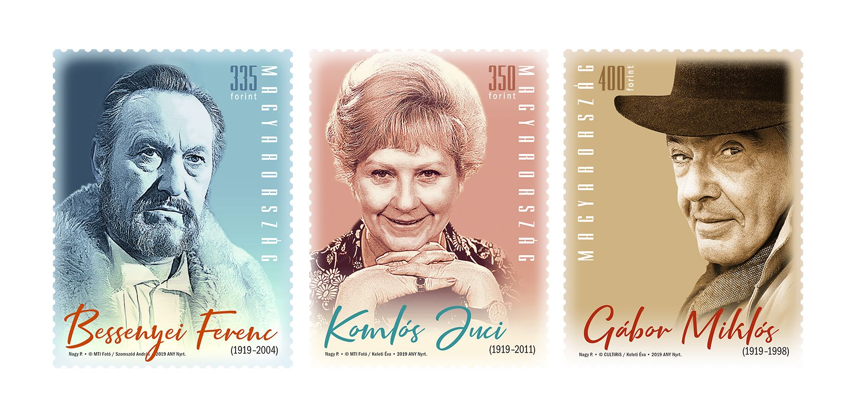 Famous Hungarian performers:centenary of the birth of Ferenc Bessenyei, Juci Komlós  and Miklós Gábor