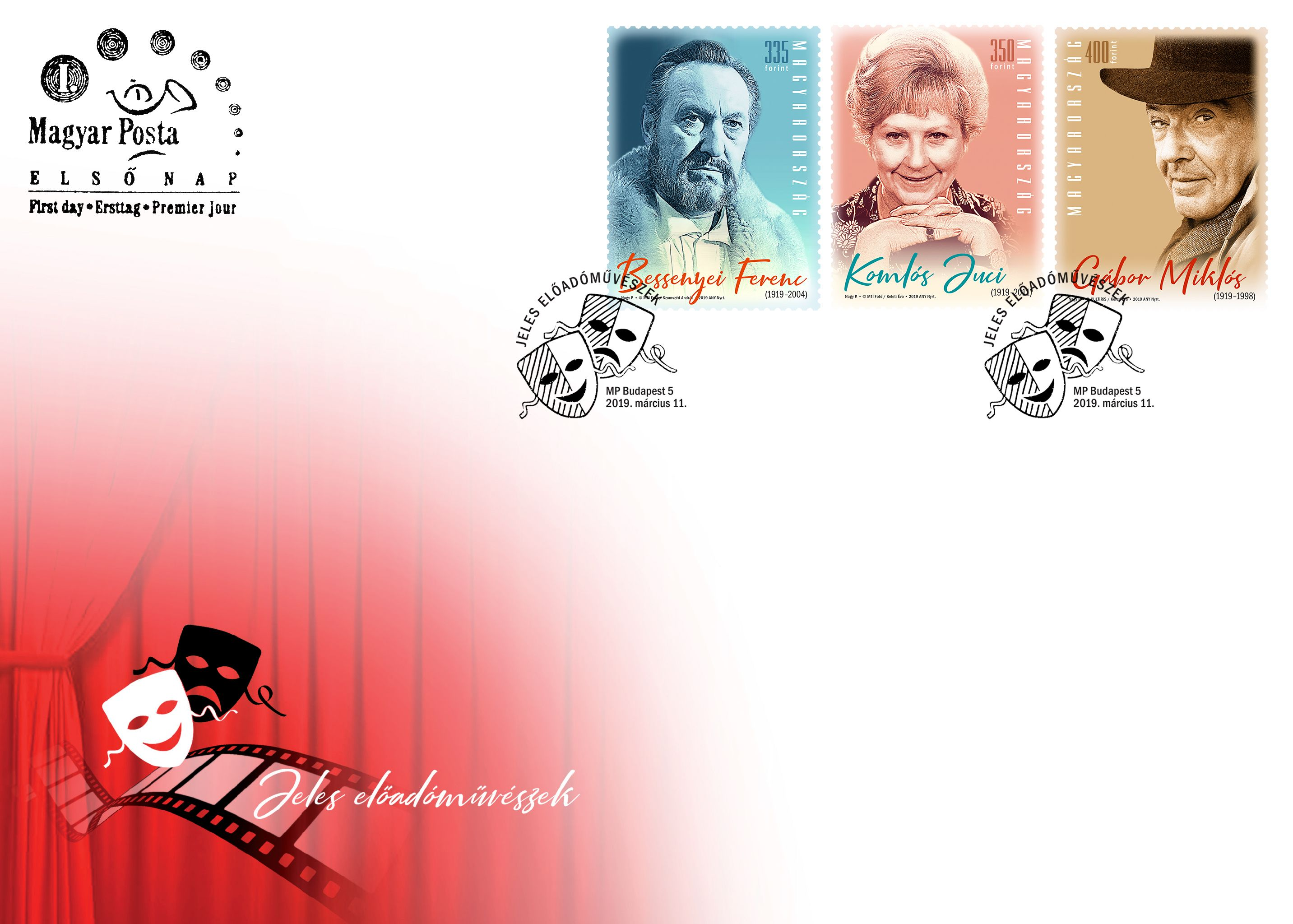 Famous Hungarian performers:centenary of the birth of Ferenc Bessenyei, Juci Jomlós  and Miklós Gábor