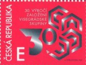30th anniversary of the formation of the Visegrád Group - Czech stamp