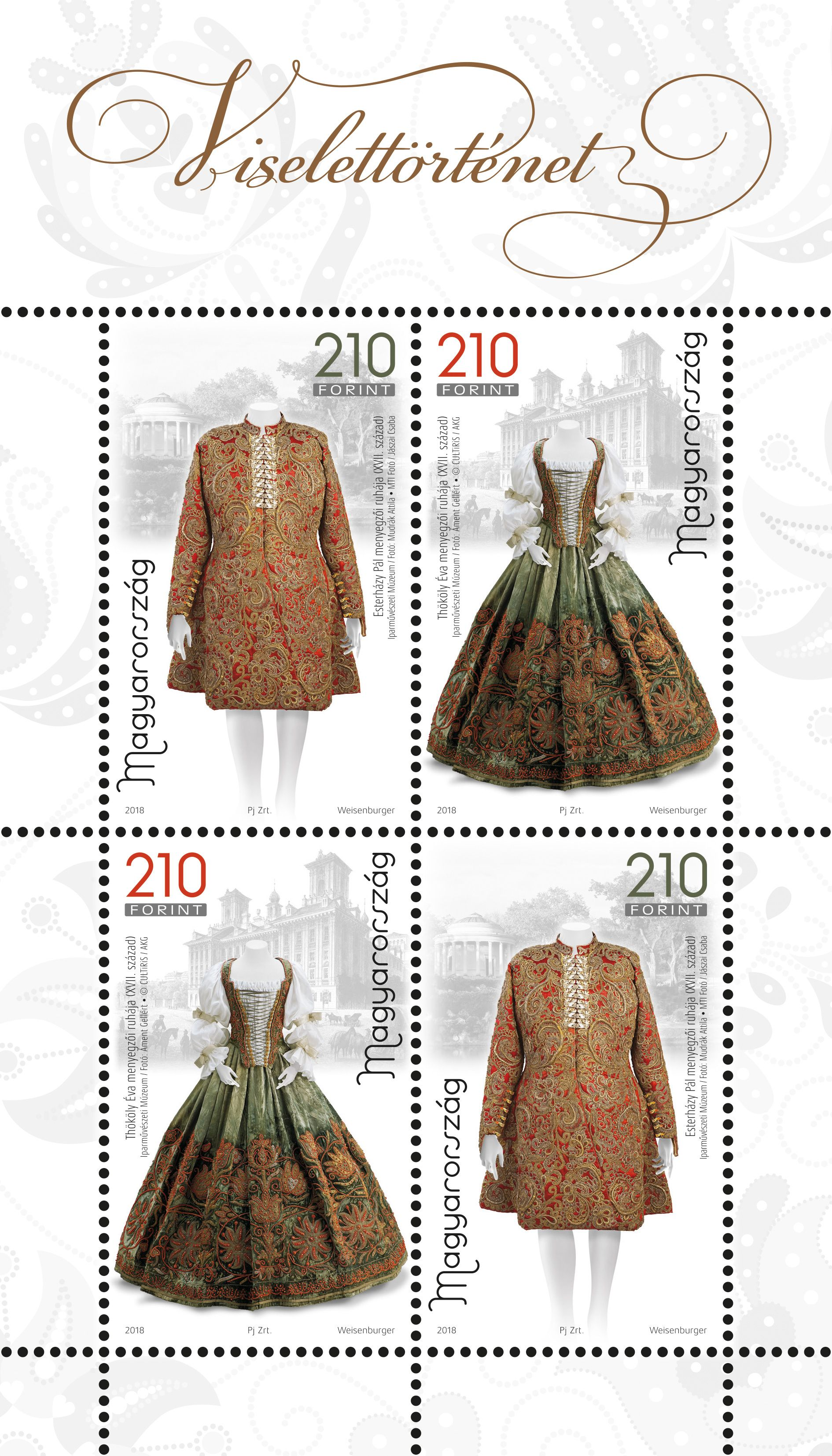 History of clothing II miniature sheet