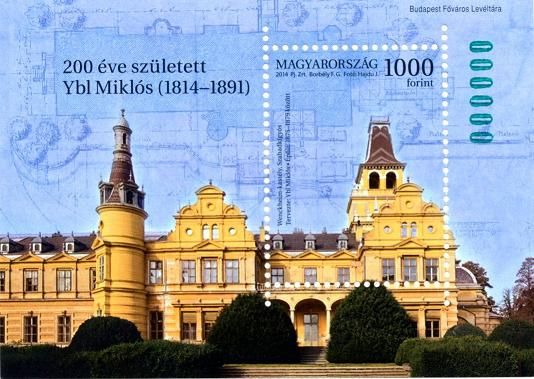 Famous Hungarians: Ybl Miklós was born 200 years ago - green numbered block