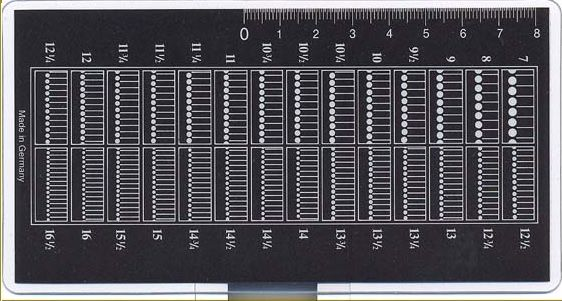 Perforation gauge