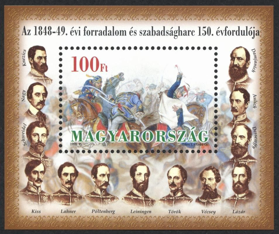 The 150th anniversary of the Hungarian Revolution and War of Independence of 1848-49