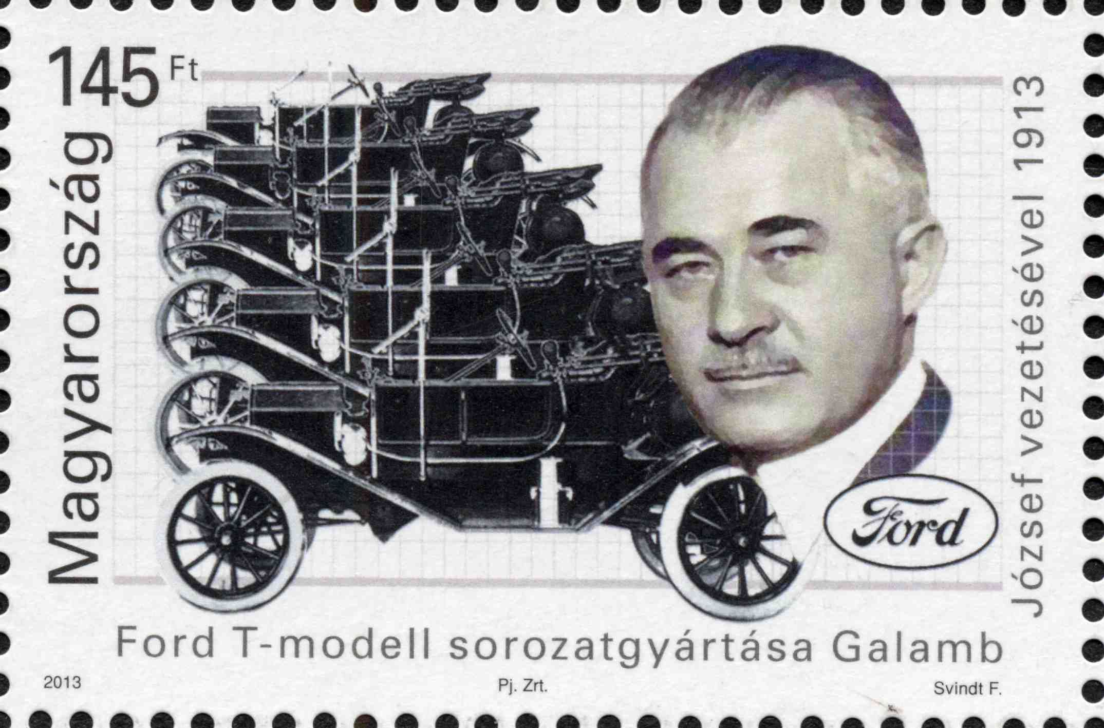 The Mass production of the model T Ford started 100 years ago under József Galamb