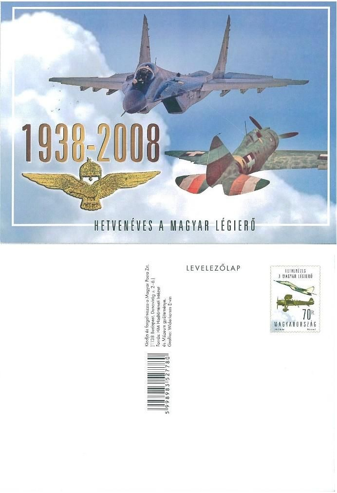 The Hungarian Air Force is 70 years old