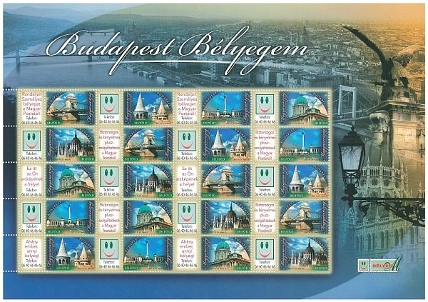 Your Budapest Stamp sheet