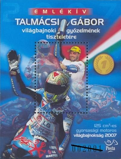 In honour of the world championship victory of Gábor TALMÁCSI with black serial numbers