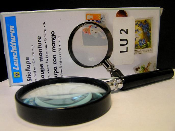 Magnifier, 3× magnification, diameter 75 mm