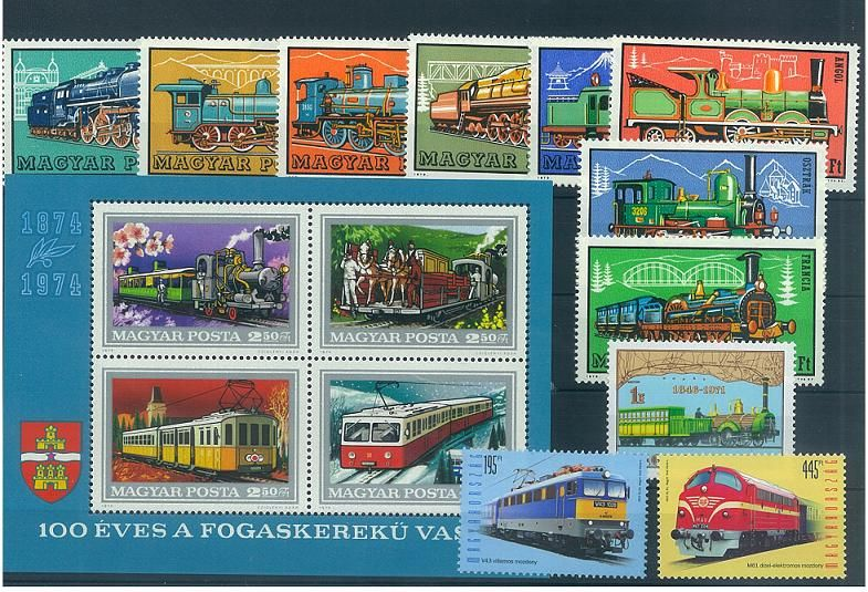 Railway III (11 stamps, 1 block)